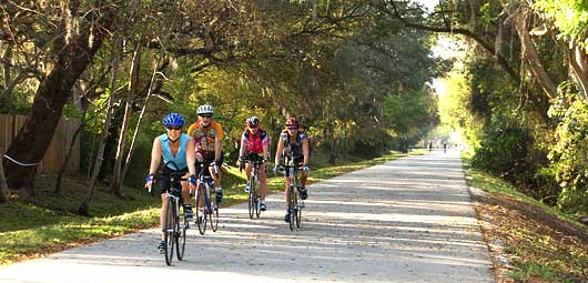 Bicycles on Pinellas Trail